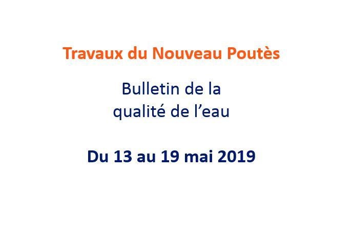 Bulletin de la qualité de l'eau - 24 mai 2019