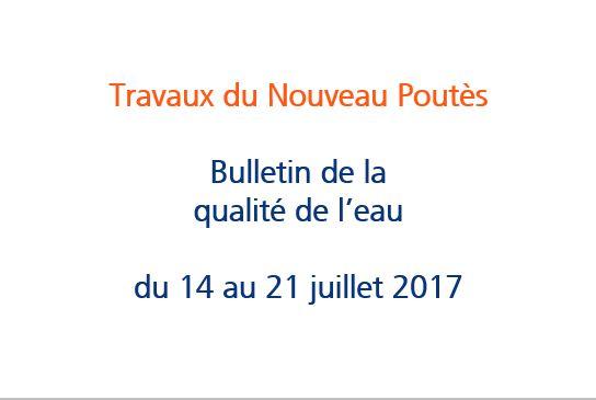 Bulletin de la qualité de l'eau n°1