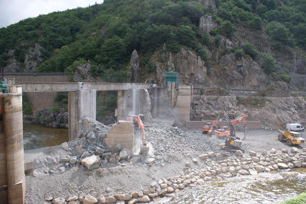 Déconstruction du barrage